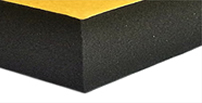 Open cell or closed cell rubber foam